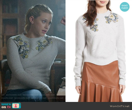 Rebecca Taylor Merino Wool Blend Pullover worn by Lili Reinhart on Riverdale