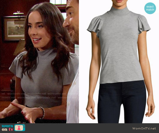 Rebecca Taylor Mockneck Jersey Top worn by Ivy Forrester (Ashleigh Brewer) on The Bold & the Beautiful