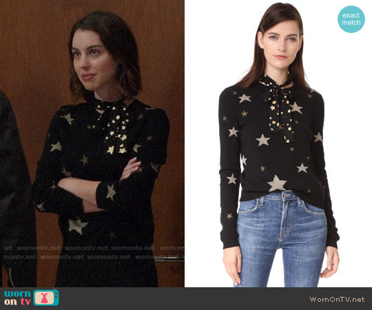RED Valentino Star Sweater worn by Adelaide Kane on OUAT
