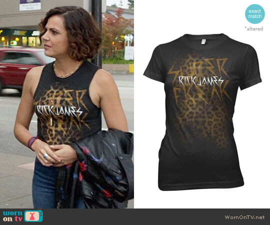Rick James Super Freak Girly Tee worn by Regina Mills (Lana Parrilla) on OUAT