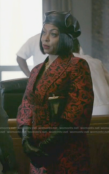 Cookie's rose print short sleeve coat on Empire