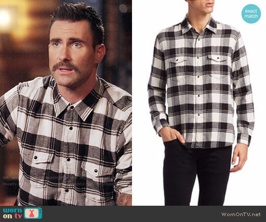 Saint Laurent Flannel Shirt worn by Adam Levine on The Voice