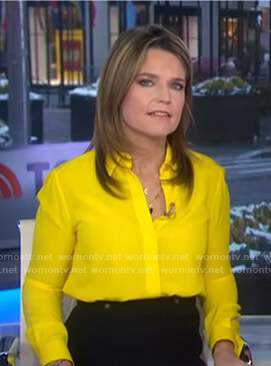 Savannah's yellow blouse on Today