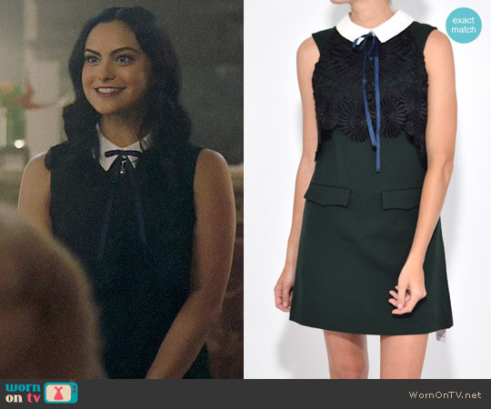 Self Portrait Lace Cape Mini Dress worn by Camila Mendes on Riverdale