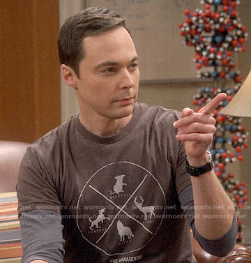 "Sheldon's ""The Marauders"" t-shirt on The Big Bang Theory"