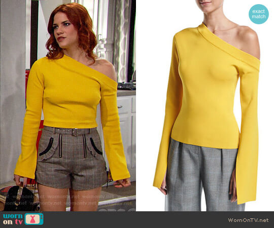 Solace London Mariette Top worn by Sally Spectra (Courtney Hope) on The Bold & the Beautiful