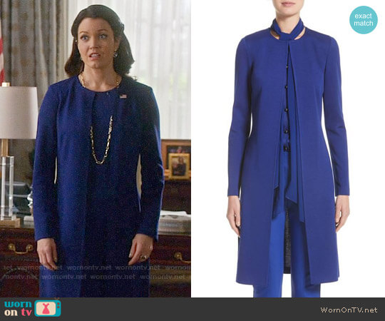 St John Collection Milano Knit Topper worn by Mellie Grant (Bellamy Young) on Scandal