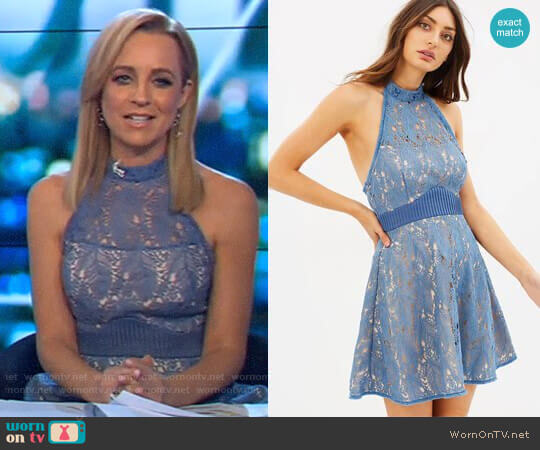 Delilah Halter Mini Dress by Talulah worn by Carrie Bickmore on The Project