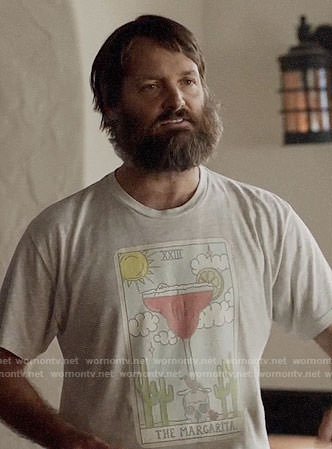Tandy's margarita t-shirt on Last Man on Earth