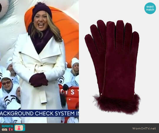 'Kassidy' Gloves by Ted Baker worn by Ginger Zee  on Good Morning America