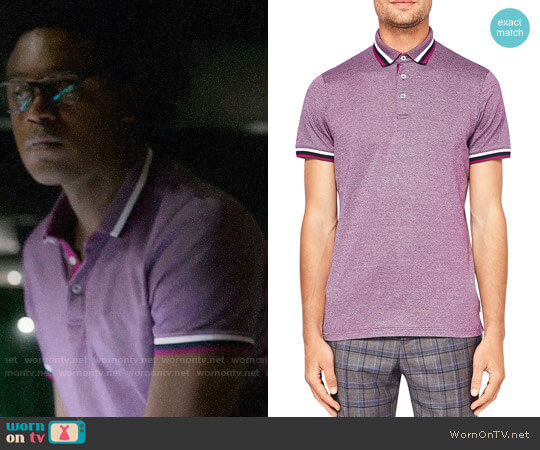 Ted Baker Bates Polo worn by Curtis Holt (Echo Kellum) on Arrow