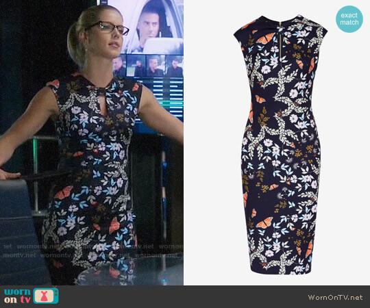 Ted Baker Kairra Kyoto Gardens Dress worn by Felicity Smoak (Emily Bett Rickards) on Arrow