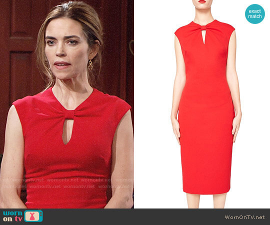 Ted Baker Kezzia Dress worn by Amelia Heinle on The Young & the Restless