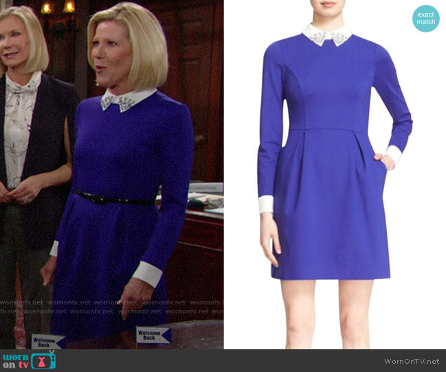 Ted Baker Moona Dress worn by Pamela Douglas (Alley Mills) on The Bold & the Beautiful
