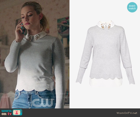 Ted Baker Suzaine Sweater worn by Betty Cooper (Lili Reinhart) on Riverdale