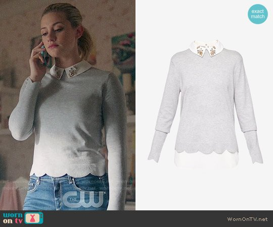 Ted Baker Suzaine Sweater worn by Lili Reinhart on Riverdale