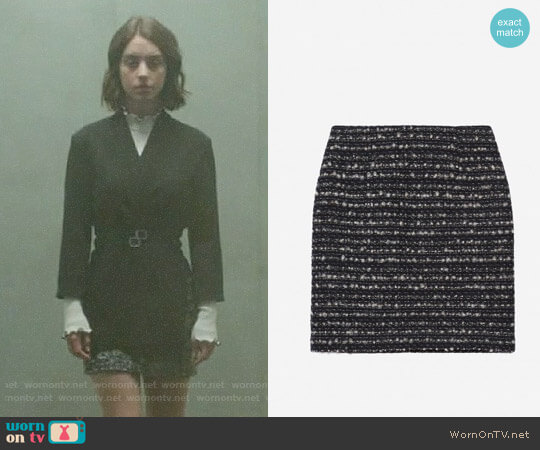 The Kooples Short Sequinned Tweed Skirt worn by Ivy Belfrey (Adelaide Kane) on OUAT