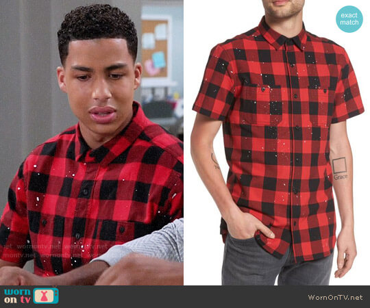 The Rail Paint Splatter Shirt worn by Marcus Scribner on Blackish