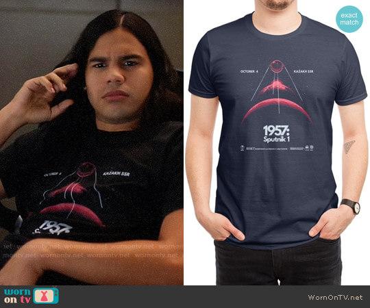 Threadless 1957: Sputnik 1 T-shirt worn by Cisco Ramon (Carlos Valdes) on The Flash