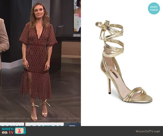 'Ramona' Sandal by Topshop worn by Catt Sadler on E! News