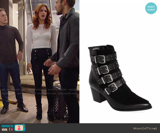 Topshop Merlin Boots worn by Courtney Hope on The Bold & the Beautiful