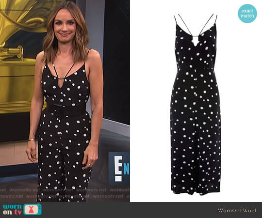 Spot Jumpsuit by Topshop worn by Catt Sadler on E! News