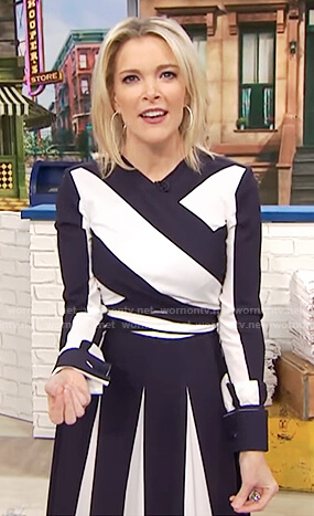 Megyn's two tone striped dress on Megyn Kelly Today