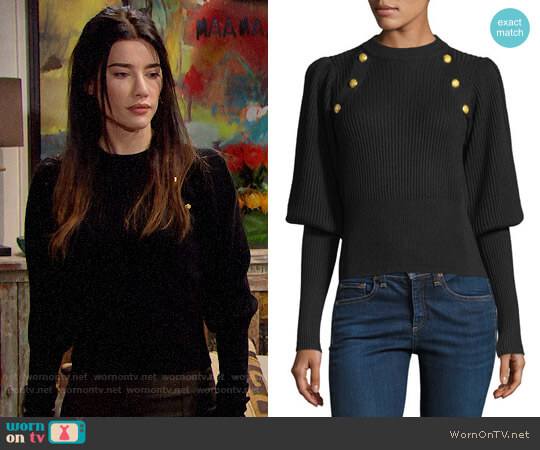 Veronica Beard Jude Sweater worn by Steffy Forrester (Jacqueline MacInnes Wood) on The Bold & the Beautiful