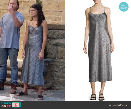 Vince Monochrome Silk Slip Dress worn by Sabrina Pemberton (Sofia Black D'Elia) on The Mick