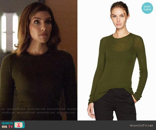 Vince Rib Crewneck Sweater  worn by Dinah Drake (Juliana Harkavy) on Arrow