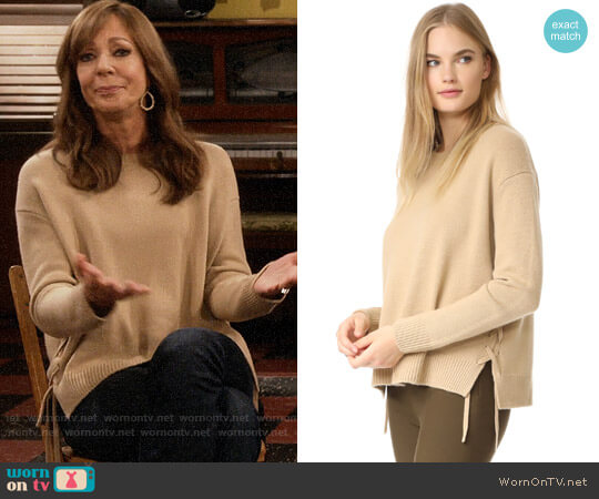 Vince Lace-up Sweater worn by Allison Janney on Mom