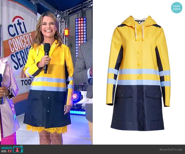 Waterproof Hooded Raincoat by Stutterheim x Marni worn by Savannah Guthrie  on Today