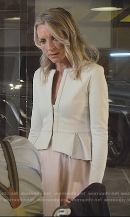 Janet's white peplum jacket on Marvel's Runaways