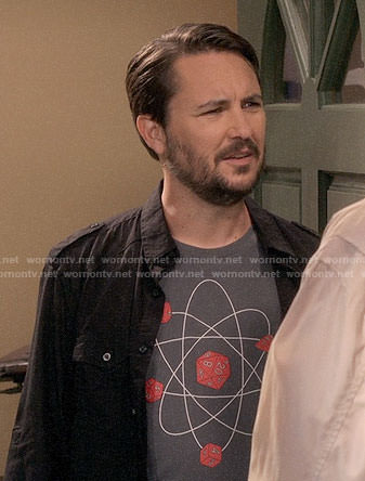 Wil Wheaton's d20 t-shirt on The Big Bang Theory