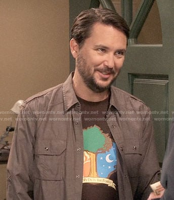 Wil Wheaton's 'We Die in the Forest' T-shirt on The Big Bang Theory