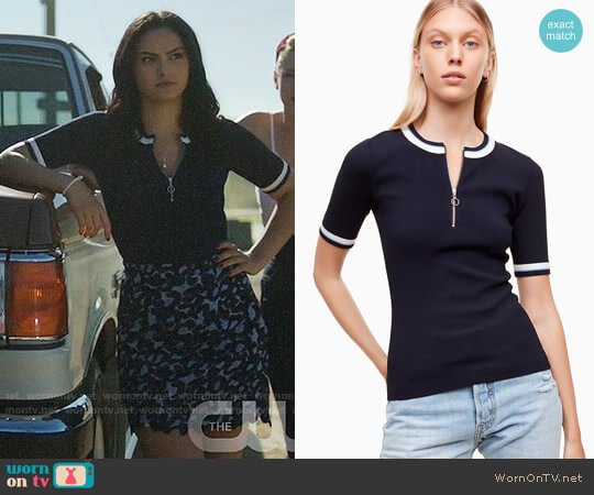 Wilfred Free Hyun Top worn by Camila Mendes on Riverdale
