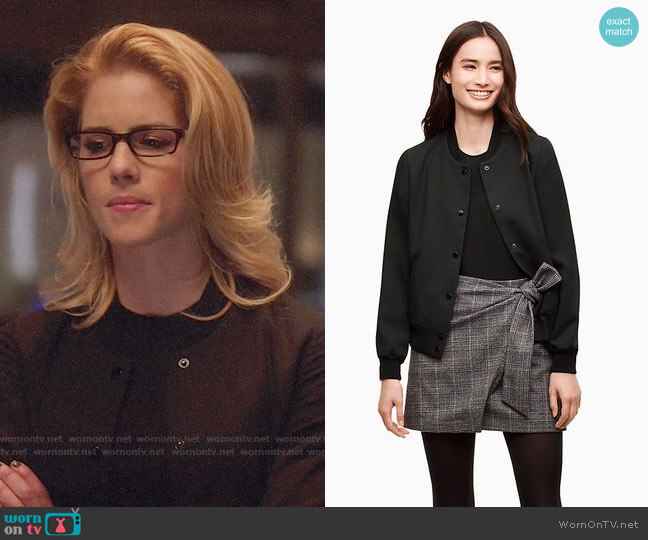 Wilfred Poussin Bomber worn by Emily Bett Rickards on Arrow