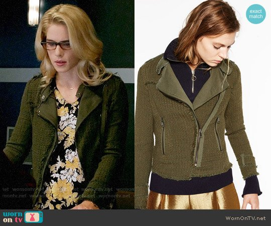 Zara Double Breasted Blazer worn by Emily Bett Rickards on Arrow