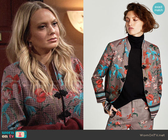 Zara Flowing Jacket with Grommets worn by Abby Newman (Melissa Ordway) on The Young & the Restless