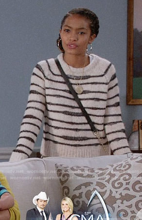 Zoey's striped sweater on Black-ish