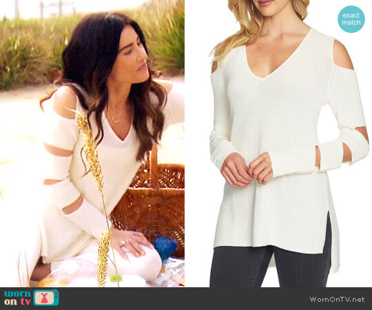 1.State Cutout Sweater worn by Jacqueline MacInnes Wood on The Bold & the Beautiful