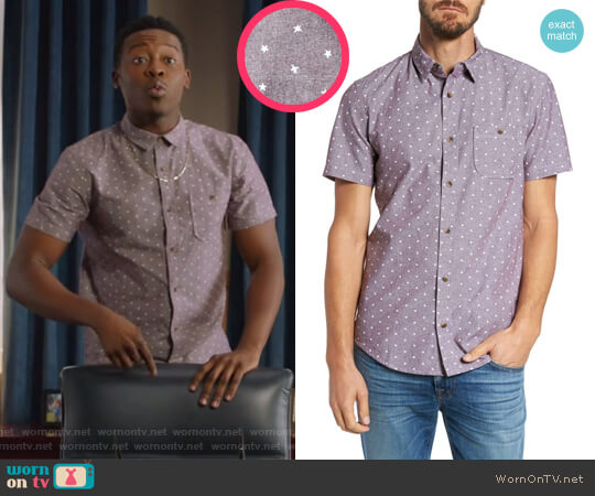Print Chambray Shirt by 1901 worn by Courtney Rose (Brandon Micheal Hall) on The Mayor