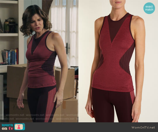 Train High-Neck Sleeveless Tank by Adidas by Stella McCartney worn by Betsy Brandt on Life in Pieces