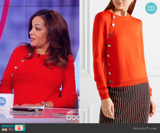 Minamoto Embellished Merino Wool Sweater by Altuzarra worn by Sunny Hostin  on The View