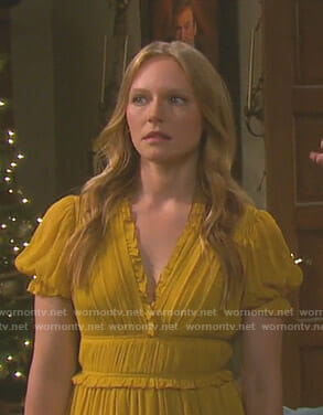 Abigail's yellow chiffon dress on Days of our Lives