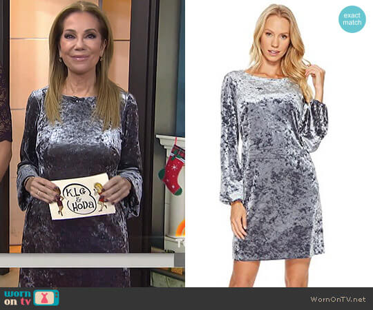 Crushed Velvet Shift by Adrianna Papell worn by Kathie Lee Gifford  on Today