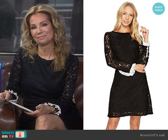 Lace Shift Dress with Long Sleeves by Adrianna Papell worn by Kathie Lee Gifford on Today