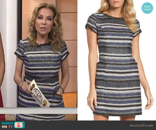 Stripe Sheath Dress by Adrianna Papell worn by Kathie Lee Gifford on Today