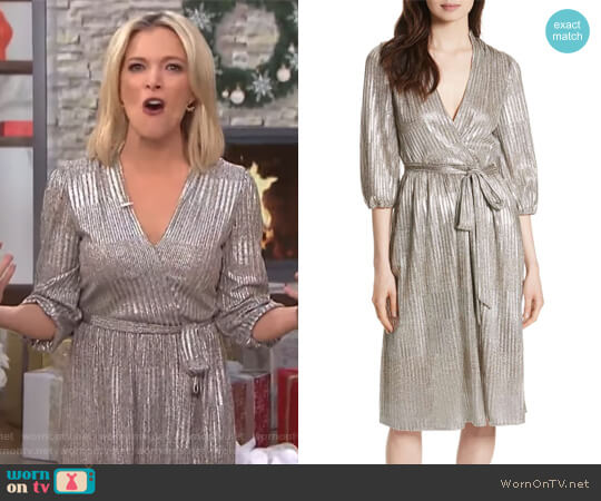 Katina Metallic Wrap Dress by Alice + Olivia worn by Megyn Kelly  on Today