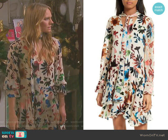 'Moore' Tiered Floral A-Line Dress by Alice + Olivia worn by Marci Miller on Days of our Lives